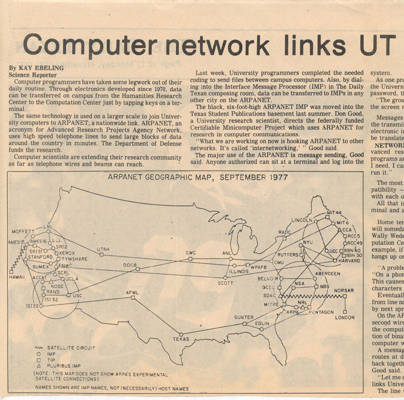 an introduction to the advanced research projects agency network arpanet The advanced research projects agency network (arpanet), the forerunner of the internet, was a pioneering long-haul network funded by the us department of defense.